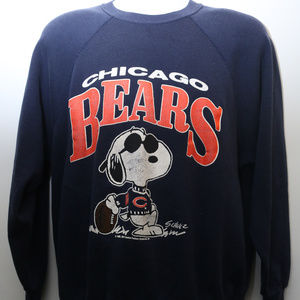"Other - 1971 ""CHICAGO BEARS"" Snoopy Joe Cool Sweatshirt"